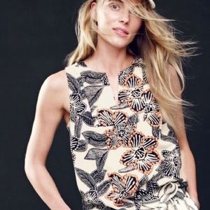 J. Crew | NWT Notched Shell in Polynesian Floral